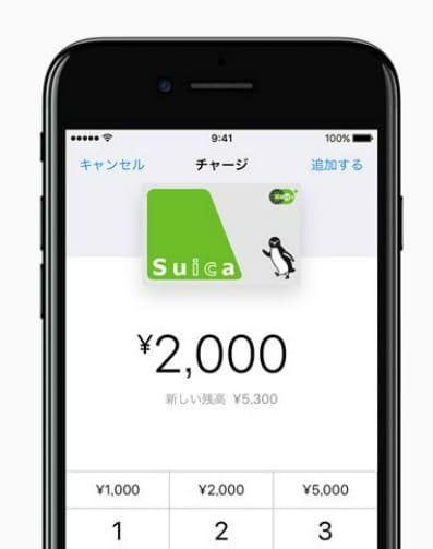 Suicaへのチャージ説明画像